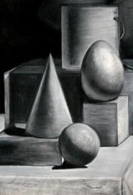 Charcoal Drawing - Shape
