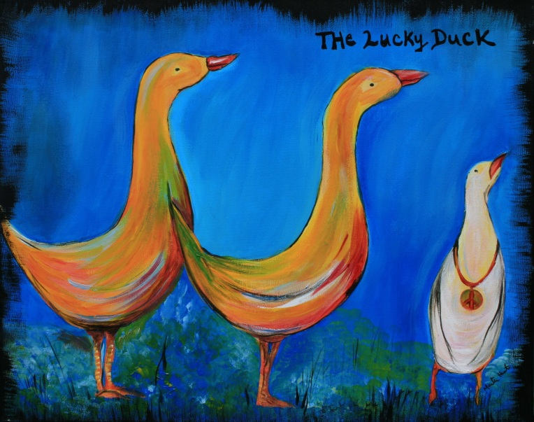 The Lucky Duck - Acrylic
