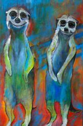 Meerkats - Acrylic