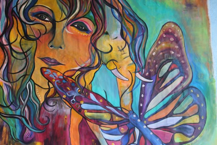 Murals public art marilyn huerta artist community for Art miles mural project