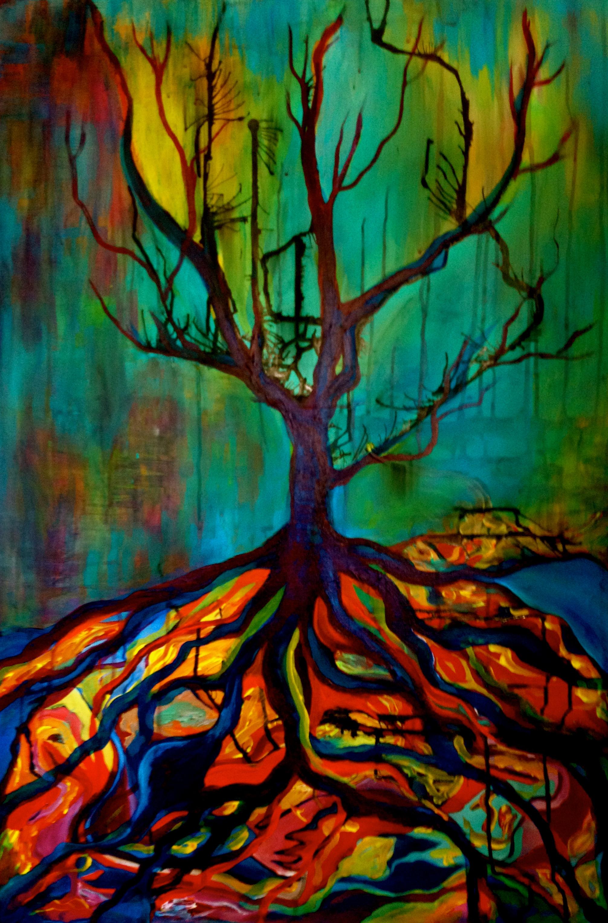 Freestyle Painting Marilyn Huerta Artist Amp Community